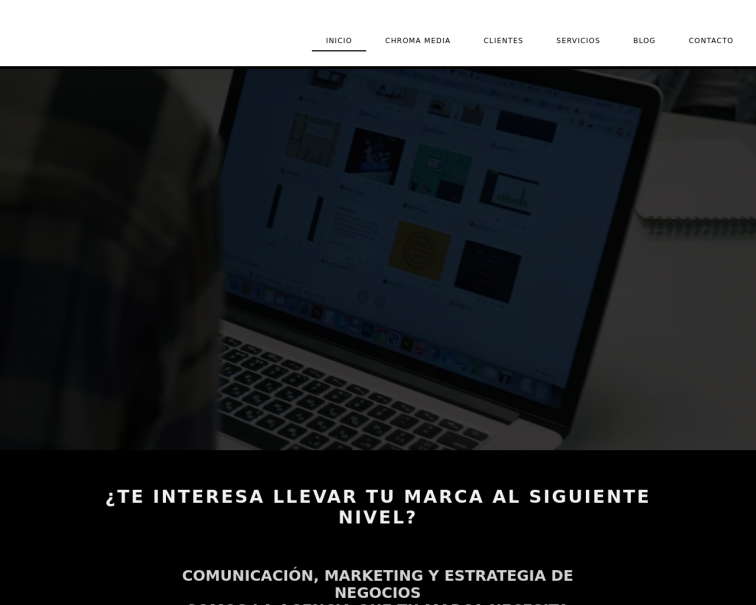 Screenshot of www.chroma-media.com.mx