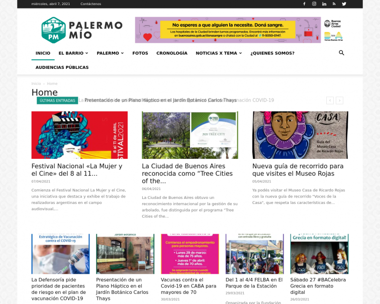 Screenshot of www.palermomio.com.ar