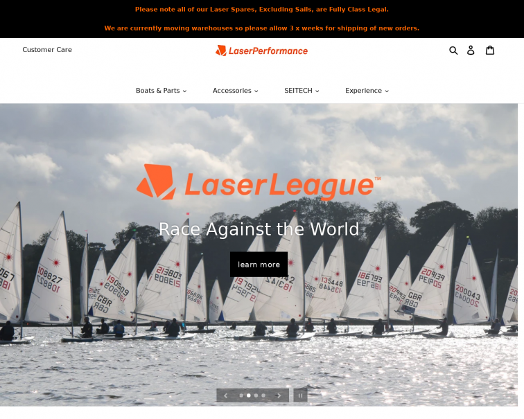 Screenshot of laserperformance.uk