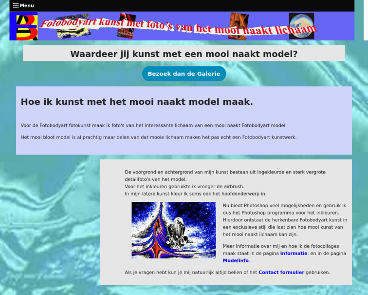 Screenshot of www.fotobodyart.nl