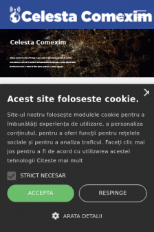 Mobile screenshot of celesta.ro
