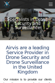 Mobile screenshot of airvis.co.uk