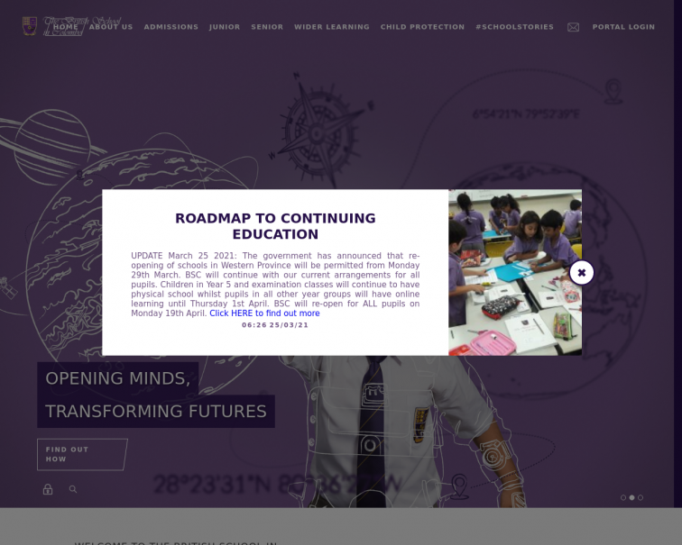 Screenshot of www.britishschool.lk