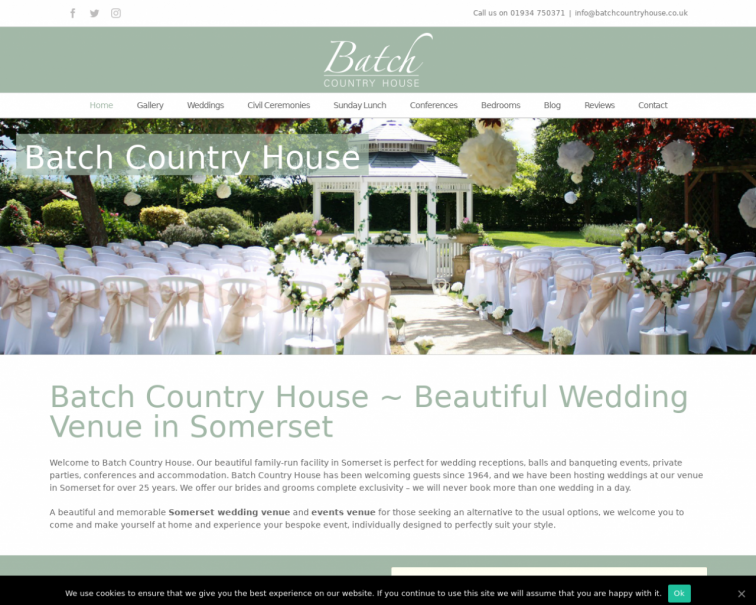 Screenshot of batchcountryhouse.co.uk