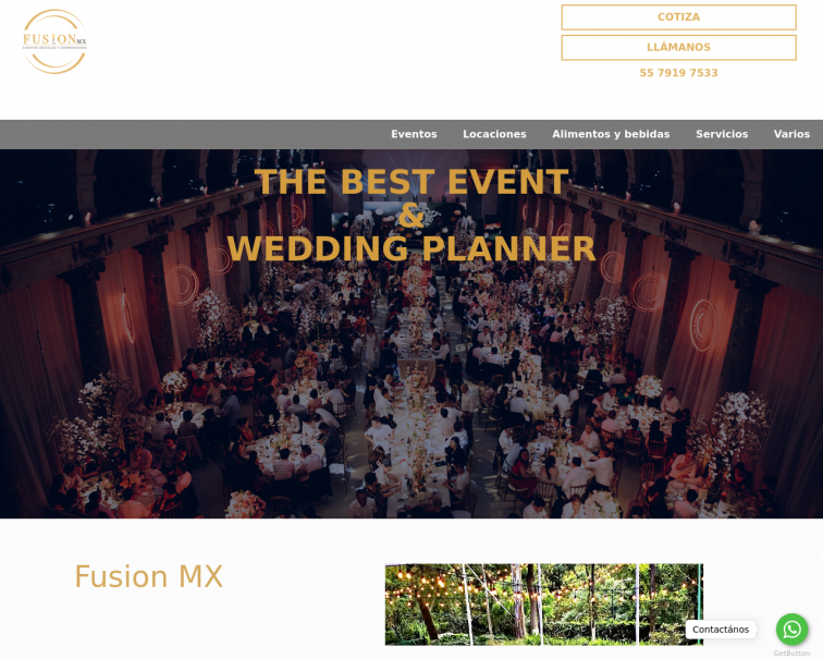 Screenshot of fusionmx.com.mx