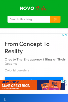 Mobile screenshot of www.novoquotes.in