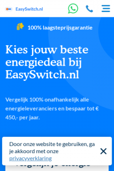 Mobile screenshot of www.easyswitch.nl