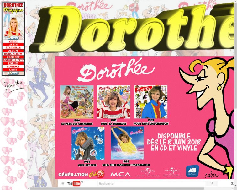 Screenshot of www.dorothee1.net