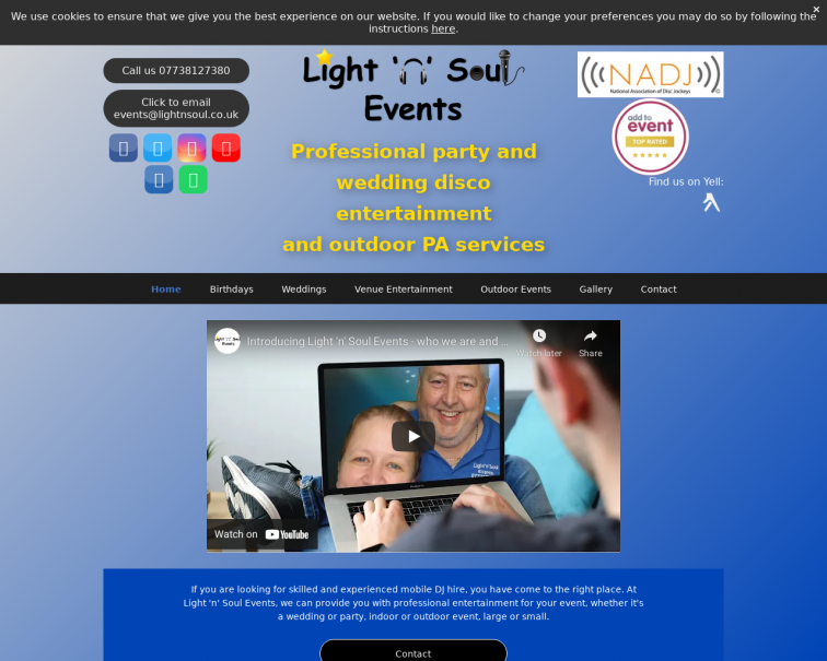 Screenshot of www.lightnsoul.co.uk