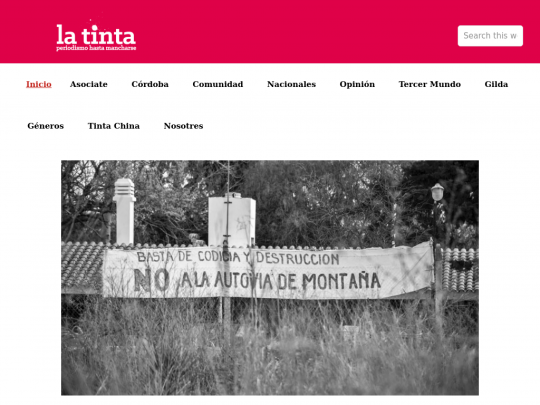 Tablet screenshot of latinta.com.ar
