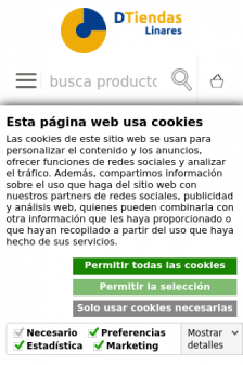Mobile screenshot of www.dtiendaslinares.es