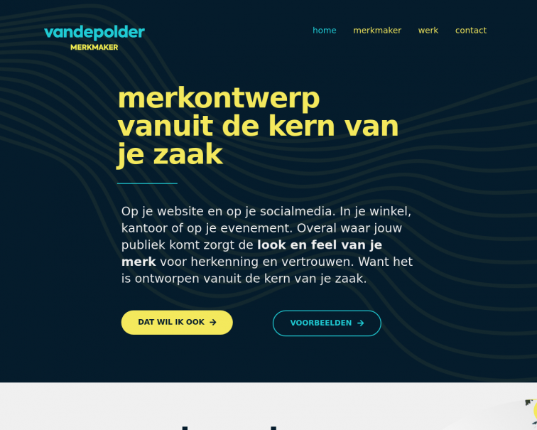 Screenshot of vandepolder.studio