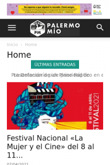 Mobile screenshot of www.palermomio.com.ar