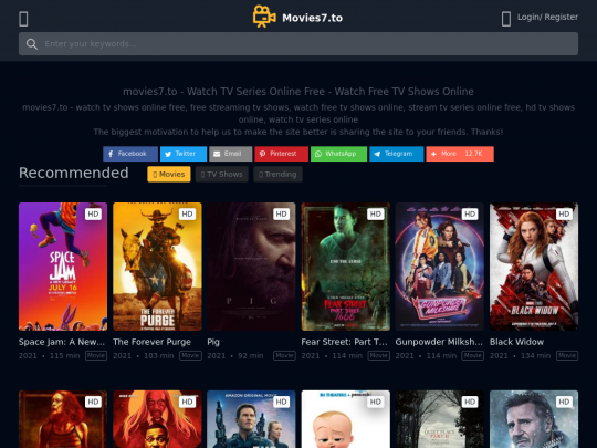 Tablet screenshot of movies7.to