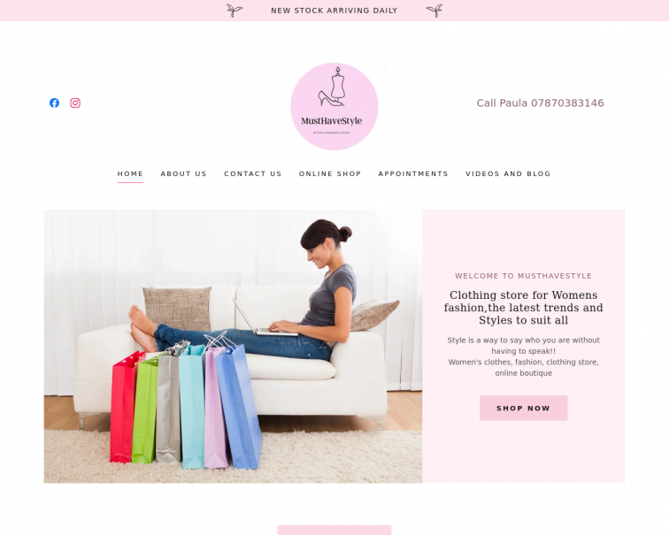 Screenshot of musthavestyle.co.uk