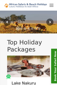 Mobile screenshot of www.kenyasafari.co.uk