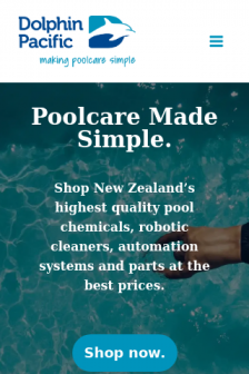 Mobile screenshot of dolphinpacific.co.nz