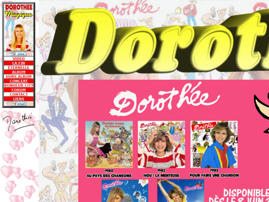 Tablet screenshot of www.dorothee1.net