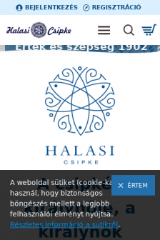 Mobile screenshot of halasicsipke.hu