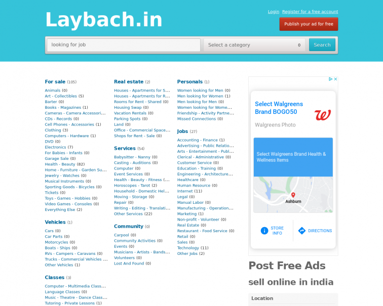 Screenshot of laybach.in