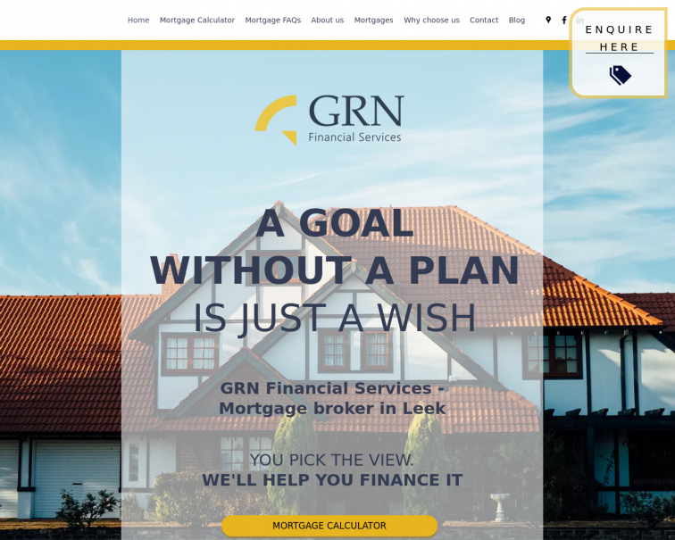 Screenshot of www.grnfinancialservices.co.uk