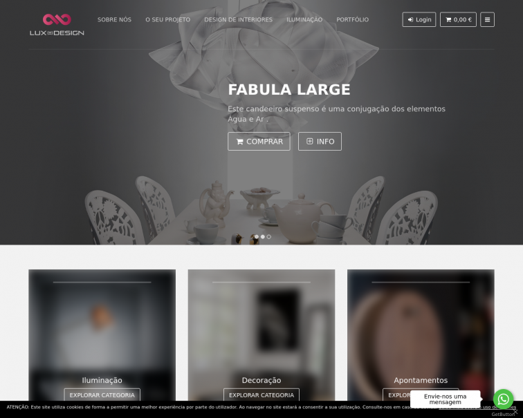 Screenshot of www.luxe-design.pt