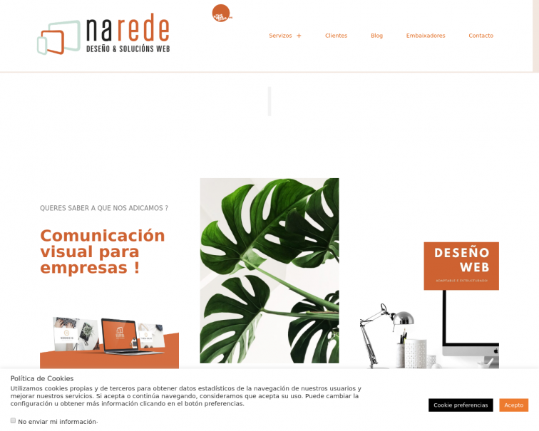 Screenshot of www.narede.es