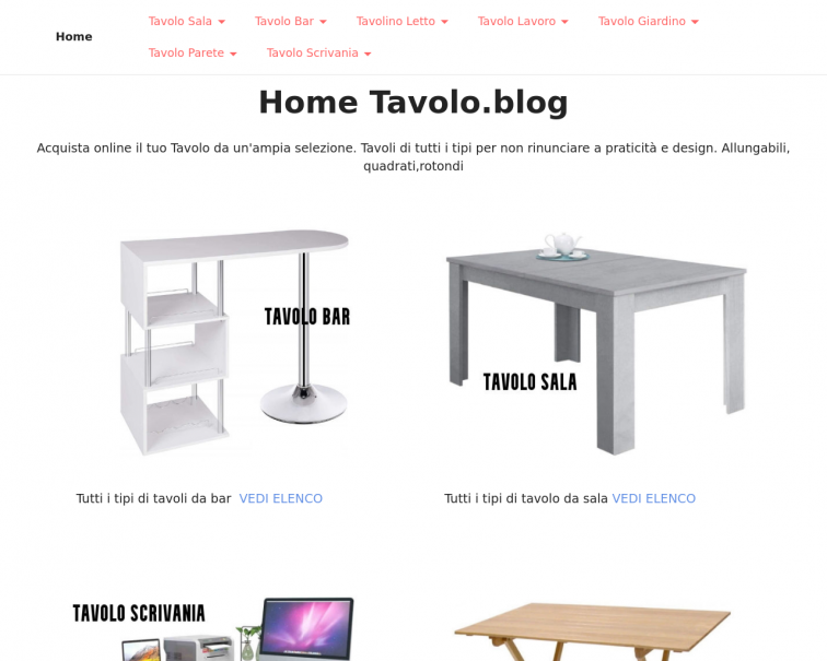 Screenshot of www.tavolo.blog