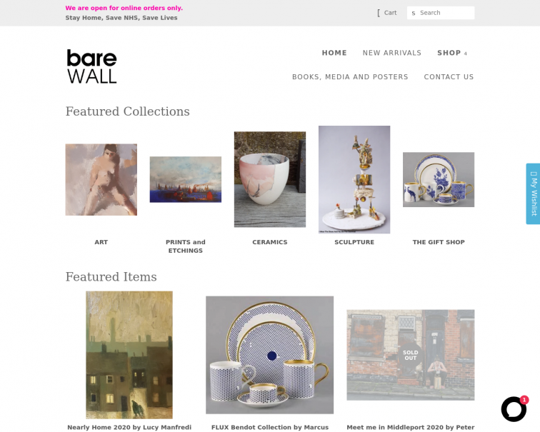 Screenshot of www.barewall.co.uk