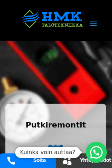 Mobile screenshot of www.hmktalotekniikka.fi