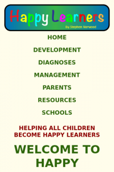 Mobile screenshot of happylearners.info