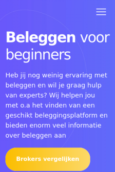 Mobile screenshot of beleggenvoorbeginners24.nl