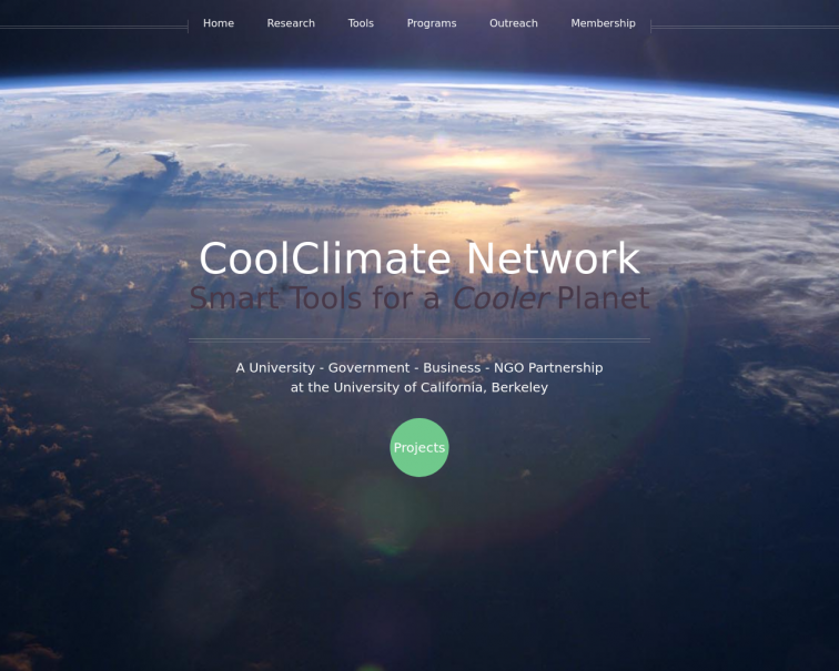 Screenshot of coolclimate.org