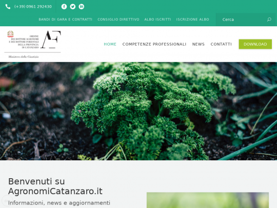 Tablet screenshot of agronomicatanzaro.it
