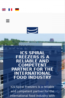 Mobile screenshot of www.ics-spiralfreezers.nl