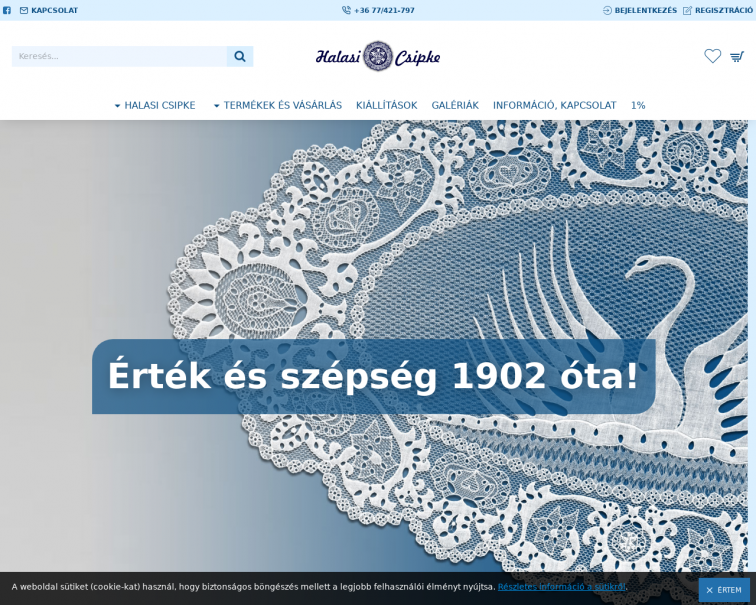 Screenshot of halasicsipke.hu