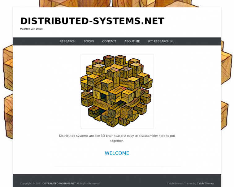Screenshot of www.distributed-systems.net