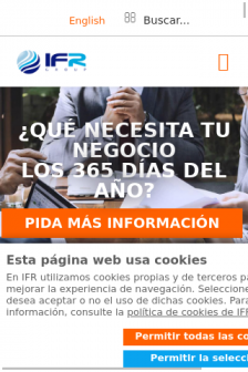 Mobile screenshot of www.ifr.es
