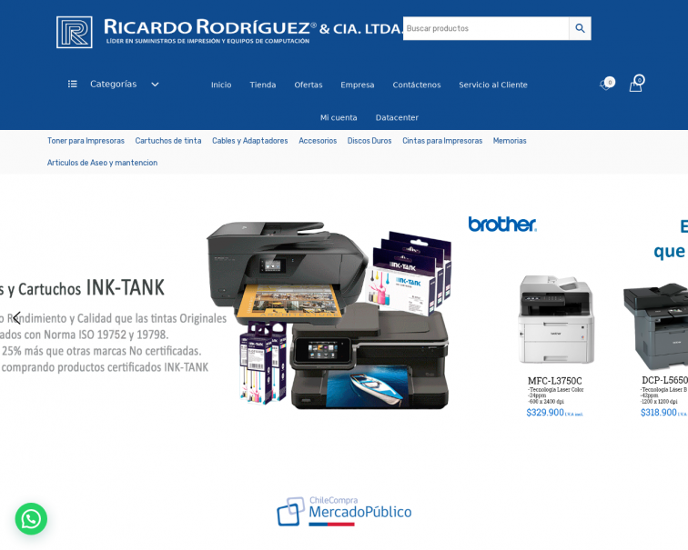 Screenshot of www.ricardorodriguez.cl