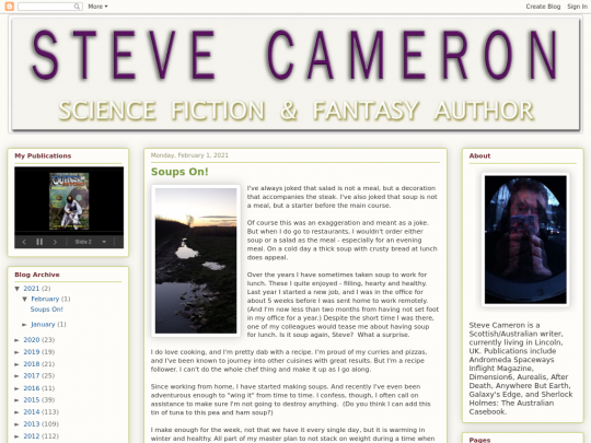 Tablet screenshot of www.stevecameron.website