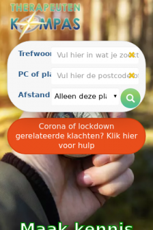 Mobile screenshot of therapeutenkompas.nl