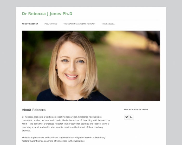 Screenshot of www.rebeccajjones.co.uk