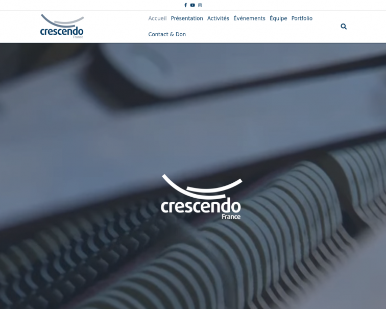 Screenshot of crescendofrance.org