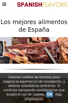 Mobile screenshot of www.spanishflavors.es