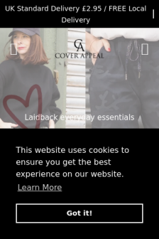Mobile screenshot of www.coverappeal.co.uk