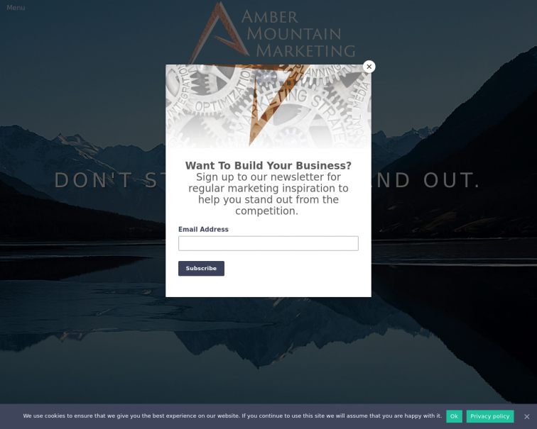 Screenshot of ambermountainmarketing.co.uk
