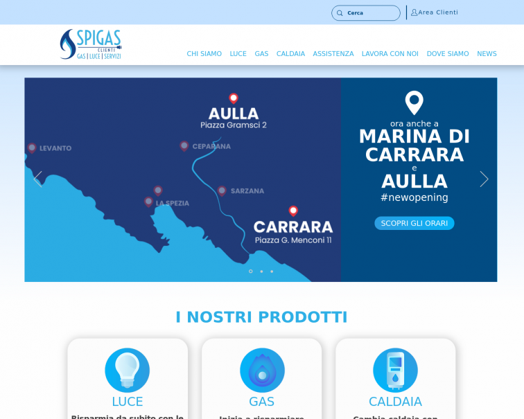 Screenshot of www.spigasclienti.it