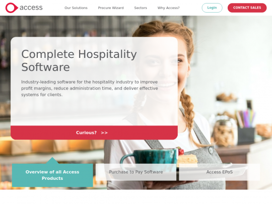 Tablet screenshot of www.accesshospitality.ie