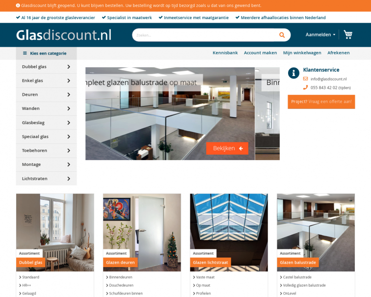 Screenshot of www.glasdiscount.nl