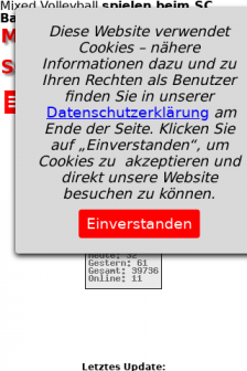 Mobile screenshot of www.scbad.de